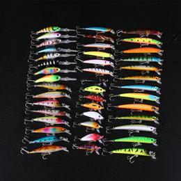 Wholesale Lures China - 43Pcs Lot Artificial Fishing Hard Bait Lures Wobbler Minnow Crankbait 6 Models Mixed Set Carp Fishing Lures Kit Tackle China