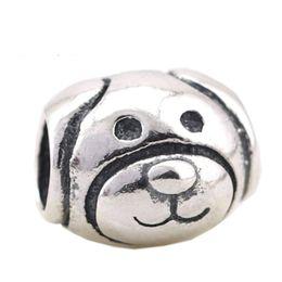 Wholesale Pandora Dog Charms - Fits Pandora Bracelets Vintage Friendly Dog Charm Beads Original 925 Sterling Silver Dog Animal Bead Diy 2017 Summer Fine Jewelry HB318