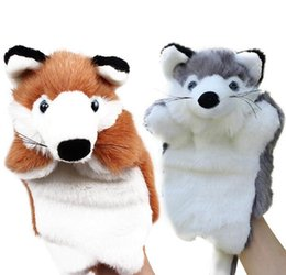 Wholesale Baby Play Doll - Story Telling Fox Hand Puppet Baby Kids Doll Plush Toys Educational Fox Hand Puppet for Baby Children Role Play Gift