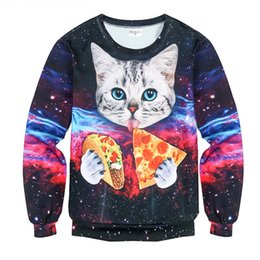 Wholesale Pink 3d Cat - 2017 New Hot Hoodies Sweatshirts Mens New 3D Cat Pattern Pullovers Fashion Sudaderas Hoodies Sweatshirts Men Classic Hoody