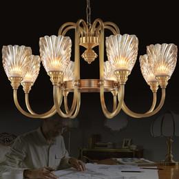 Canada Lustres haute classe américaine style européen lustre en cuivre lampe salon chambre hôtel étude chambre villa pendentif éclairage Offre