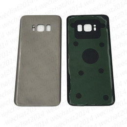 Wholesale House Housing - 100PCS Original Battery Door Back Housing Cover Glass Cover for Samsung Galaxy S8 G950 G950P S8 Plus G955P with Adhesive Sticker