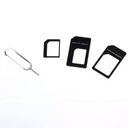 Wholesale Iphone 4s Convert - 2017 Convert Nano SIM Card to Micro Standard Adapter For iPhone SE 4S 5S 5C 6S Plus Cell phones accessories