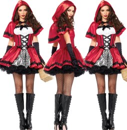 Wholesale Sexy Costumes For Role Play - Little Red Riding Hood sexy queen outfit anime female Halloween Costume for Women fun uniform role-playing cosplay clothing