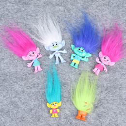 Wholesale Play Set Doll - Trolls Action Figure Play Set Movie Cartoon Magic Long Hair Dolls hot Toys Kids Children Gift