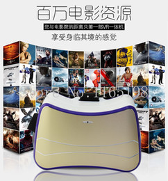 Wholesale Quad Machine - Wholesale- Quad Core Android 4.4 WIFI Google Cardboard VR Virtual Reality All in One machine Headset VR BOX Version 3D Glasses GB 8GB +BT