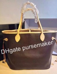 Wholesale Hot Sale Canvas Bag - AAAAA Hot sale 2016 real leather never# full  Handbag 100% Genuine Leather Handbag Real Leather shopping bag MM Handbag Purse Bag M50366