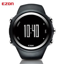 Wholesale Gps Watch Calories - Wholesale- EZON GPS Distance Speed Calories Monitor Men Sports Watches Waterproof 50m Digital Watch Running Hiking Wristwatch Montre Homme