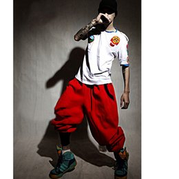 Wholesale women baggy dance pants - Wholesale-Top Fashion Men Women Harem Pants Casual Hip Hop Pants Mens Baggy Dance Pants