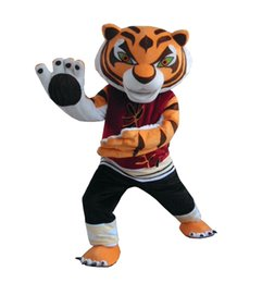 Wholesale Tiger Mascot Costume Sale - kungfu tiger Mascot Costume tiger mascot costume Adult Size Hot Sale free shipping fancy dress costume outfit