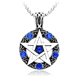 Wholesale Wholesale 316l Stainless Steel Jewelry - JLN 316L Titanium Stainless Steel David Star Pendant For Women Men High Quality Fashion Jewelry