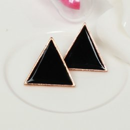 Wholesale Candy Earring Colorful - Free Shipping $10 (mix order) New Fashion Vintage Stunning Colorful Candy-colored Earrings Geometric Triangle Jewelry