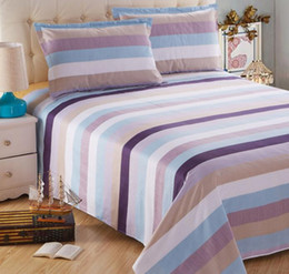 Wholesale Reactive Print Bedding - Free shipping LY-BSH006-3 cotton 40S simple design reactive printed bed sheet bed cover home textile beddings sheets