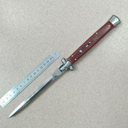 Wholesale Italy Folding Knife - Fox 13 Inch Italy knife AKC pocket knife 33cm Italian godfather Stiletto Mirror polish finish 3904 survival camping knives 13inch 1pc