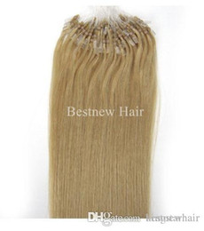 """Wholesale Grade 5a Indian Hair - 100g 18"""" 20"""" 22"""" 24'' #613 Bleach Blond INDIAN REMY Human Micro Ring loop Hair Extension 1g s 5A Grade Indian Hair Extension"""