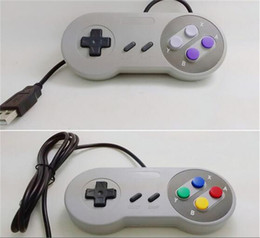 Joypad usb online-Classic USB Controller Controladores de PC Gamepad Joypad Joystick Reemplazo para Super Nintendo SF para SNES NES Tablet PC LaWindows MAC