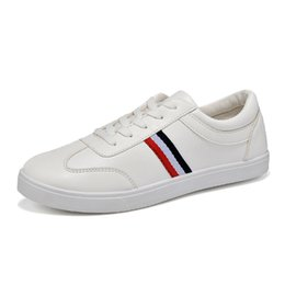 Wholesale Ventilated Men Casual Shoes - Men Summer Shoes Fresh Ventilate Mens Shoes HOT Casual Lace up Loafers Lace up PU Classic White Male Black Leather Leather Men's Flats