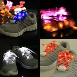 2019 zapatos de fibra óptica Trenza de nylon LED Granos de la lámpara Intermitente Cordón Cordón de Fibra Óptica Cordones de Zapatos Luminosos Ilumina Flash Deslumbrante Cordón DHL libre USZ064 zapatos de fibra óptica baratos