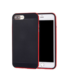 Wholesale Iphone Cases Bees - Ultra-thin 2 in 1 Shockproof Hybrid Case Carbon Fibre Back Bumble Bee Case For iPhone X 6 6S 7 8 Plus 5 5S SESamsung Note8 S6 S7 Edge