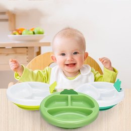 Wholesale Plastic Grid Plate - Baby Plastic Service Plate Water Injection Insulation Sucker Sub Grid Bowl Multi Function New Arrival 14 5lg I1 R