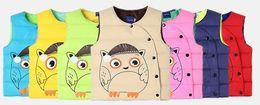 Wholesale Down Cartoon Vests - 2017 new children's clothing. Children vest. Boy. Girl. Cartoon. Warm vest. Winter.Baby & Kids Clothing.Outwear.Waistcoat.