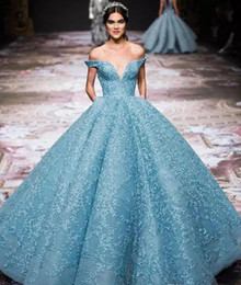 Elie saab fora do vestido do ombro on-line-Elie Saab Off The Shoulder Vestidos de Noite Mergulhando Decote Lace Prom Dress Até o Chão Celebridade Red Carpet Dresses Evening Wear