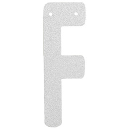 "Wholesale Only F - Wholesale- (1pc Only) 6inch Personalized DIY Silver Glitter Paper Letter ""F"" Banner Garlands Hanging Birthday Parties Festival Decorations"