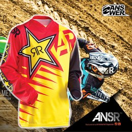 Wholesale Road Stars - ANSWER Rock Star Moto Jersey MX MTB Off Road Mountain Bike DH Bicycle Jersey DH BMX Motocross jersey 3 styles