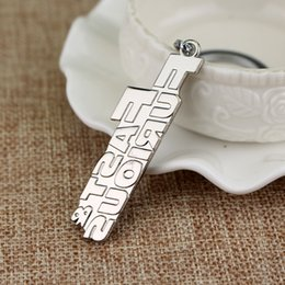 fast furious gifts NZ - New Arrival Movie Fast & Furious Key Chain Letter Keychain Metal Alloy Key Ring Gift Free Shipping
