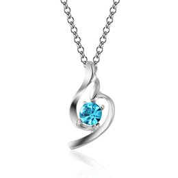 Wholesale Cheapest 925 Silver - cheapest! 925 Silver Plated Crystal Rhinestones lucky Angel heart Pendant Charm Necklace for women lover Many Colors
