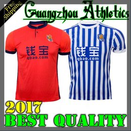 Wholesale Quick Delivery - Best Quality Real Sociedad 2017 2018 Royal Society Home Away Soccer Jersey Free Ultra Fast Delivery Royal Society Jerseys