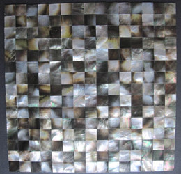 Wholesale Seashell Tiles - Natural blacklip Seashell Mosaic Tiles Mini Square Seashell MOP Backsplash