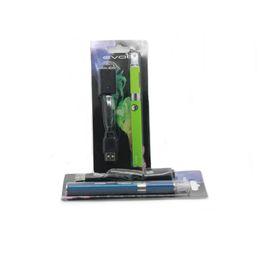 Wholesale Ecigarette Batteries - Evod MT3 blister starter kits mt3 tanks e cigarette Clearomizer Evod battery ego ecigarette kit electronic cigarettes