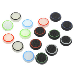 Wholesale Protect Dust - 16pcs 8 Pairs Silicone Fingers Anti-slip Anti-dust Thumb Stick Thumbstick Grip Caps Protect Controllers Cover for PS4 PS3 Xbox 360 Xbox One