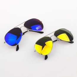 Wholesale Lentes Sol Mujer - Wholesale- Sunglasses for Women Men Vintage Full Blue Yellow Mirror Goggle Shades Glasses Lentes De Sol Mujer