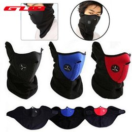 Wholesale Bicycle Motors - Wholesale- Winter Cycling Mask Thermal Fleece Half Face Mask Windproof Neck Warm Headwear Motor Bicycle Face Mask Outdoor Ski Snowboard