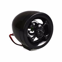 Wholesale Audio Cars Systems - motorcycle wheel bar audio fm radio stereo sound system amplifier CAR speaker mp3 black skull anti diefstal Fre DHL