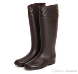 Wholesale Cheap Wellies For Women - new knee high women short rubber tall fashion rainboots Wellies rain boot water shoes for female brand cheap sale