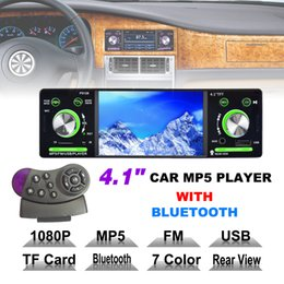 Wholesale Bluetooth Radio Control - 4.1 Inch 1 Din HD Car Stereo Radio Bluetooth MP3 MP5 Player Support USB   FM   TF   AUX with Remote Control CMO_226