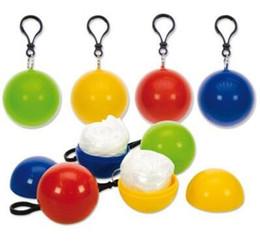 2019 passeios chave New Spherical Capa de Chuva Bola de Plástico Chaveiro Descartável Capas de Chuva Portáteis Capas de Chuva Viagem Viagem Passeio Chuva Casaco desconto passeios chave