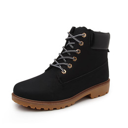 Wholesale motorcycle wear brands - Men Winter Boots Big Size 36-46 Brand Hot Newest Keep Warm Pu Leather Wear Resisting Casual Shoes Working Fashion Men Boots Women Black