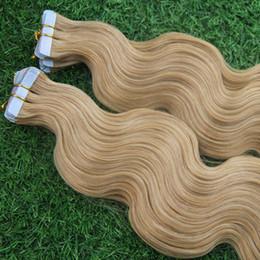 16 613 ленточных расширений Скидка Реми бразильский Лента в наращивание человеческих волос #613 отбеливатель блондинка 7А необработанные кожи уток ПУ волосы бразильский объемная волна девственные волосы 40 шт./компл.