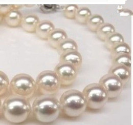 "Wholesale 8mm South Sea Pearls - Genuine AAA 8mm WHITE south sea AKOYA SHELL PEARL NECKLACE 18""kk-2"