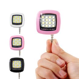 Wholesale Flash Photo Video - Phone flash lighting Selfie Night enhancing 3.5mm studio led light, Pocket Spotlight lamp mobile godox video photo viltrox yongn