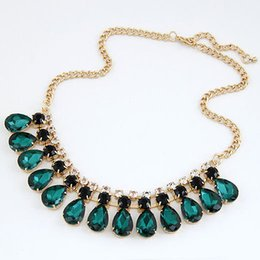 Wholesale Gems For Necklaces - YANA Jewelryy 2017 New Fashion jewelry Gem statement Gold Plated Necklaces & Pendants choker necklaces for women