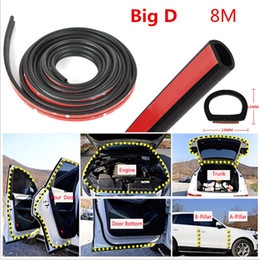edge trimmers Coupons - 8M Big D Shape Car Door Window Trim Edge Moulding Rubber Weatherstrip Seal Strip To prevent scratching Free Shipping