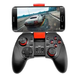 Wholesale Dual Joypad - High Quality Wireless Gamepad Bluetooth Joystick Dual Mode For Iphone or Android Samsung Bluetooth Game Controller Joypad