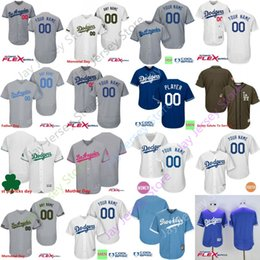 Wholesale Day Mother - Custom Los Angeles Dodgers Jersey Men Women Youth Cool Base Flexbase Home Away 4XL 5XL Father Day Memorial Day Mother Day Green Salute To Se