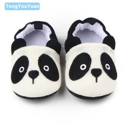 Wholesale Woolen For Baby Girl - Wholesale- Cute Panada And Mouse Soft Sole Cotton Woolen Infant Baby Girl Boy Shoes For 0-15 Months