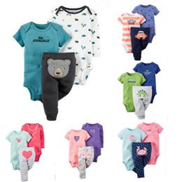 Canada Vente en gros - Original 2016 marque 3 pièces bébé fille robe 100% coton bébé fille et pantalon à manches longues pantalon garçon ensemble cheap original clothing brands Offre